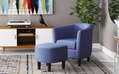 Jazouli Linen Barrel Chairs and Ottoman