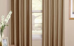 Brown Eyelet Curtains