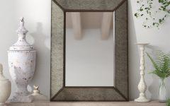 Rectangle Antique Galvanized Metal Accent Mirrors