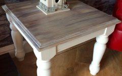 Washed Old Oak & Waxed Black Legs Bar Tables