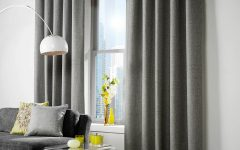 Grey Eyelet Curtains