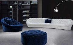 Blue and White Sofas