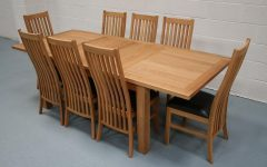 Extendable Oak Dining Tables and Chairs
