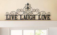Live Love Laugh Metal Wall Decor