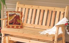 Traditional English Glider Benches