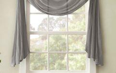 Kaylee Solid Crushed Sheer Window Curtain Pairs