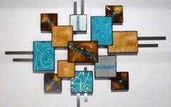 Turquoise Metal Wall Art