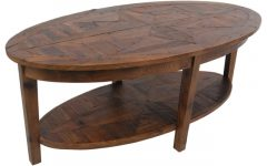 Oval Wooden Coffee Tables