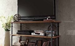 Metal and Wood TV Stands
