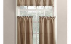 Twill 3-Piece Kitchen Curtain Tier Sets