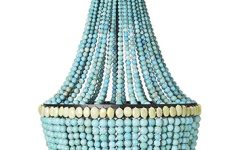 Turquoise Gem Chandelier Lamps