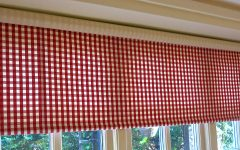 Gingham Roman Blinds