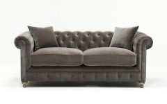 Mansfield Graphite Velvet Sofa Chairs