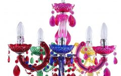 Coloured Chandeliers