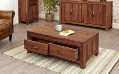 Walnut 4-Drawer Coffee Tables