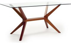 Glass Dining Tables With Wooden Legs