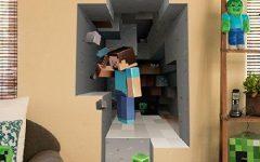 Minecraft 3D Wall Art