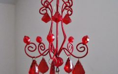 Small Red Chandelier