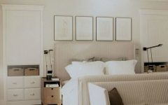 Minimalist Fabric Bedroom in White Color