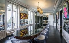 Mirrored Wall Tiles in Glitz and Glamour Art Deco Dining Room