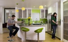 Modern Home Bar With Green Color Theme Design