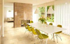 Modern Living Room With Elegant Ceramic Wall Tiles
