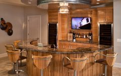 Modern Round Home Bar Wooden Furniture