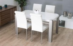 White Gloss Dining Chairs