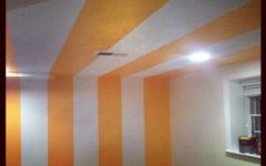 Modern Basement Ceiling Tile and Paint Color