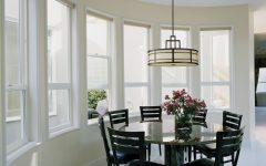 Modern Lighting for Round Dining Room