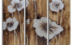 3 Piece Floral Wall Art