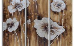 3 Piece Floral Wall Art
