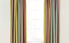 Multi Coloured Striped Curtains