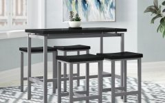 Mysliwiec 5 Piece Counter Height Breakfast Nook Dining Sets
