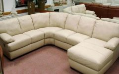 Natuzzi Microfiber Sectional Sofas