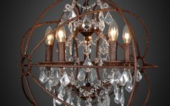 Small Rustic Crystal Chandeliers