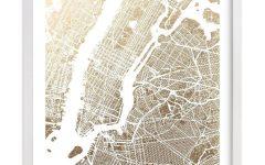 New York Map Wall Art