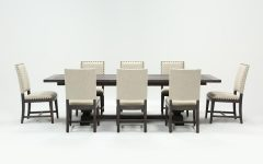 Norwood 9 Piece Rectangular Extension Dining Sets With Uph Side Chairs