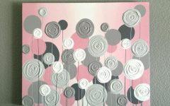Pink and Grey Wall Art