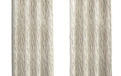 Oakdale Textured Linen Sheer Grommet Top Curtain Panel Pairs