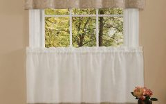 Oakwood Linen Style Decorative Window Curtain Tier Sets