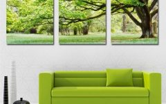 Large Green Wall Art