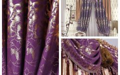 Purple and Gold Curtains