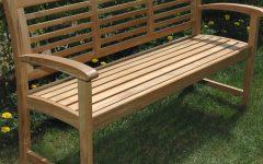 Coleen Outdoor Teak Garden Benches