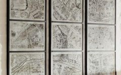 Map of Paris Wall Art