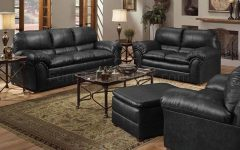 Black Leather Sofas and Loveseat Sets