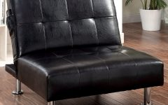 Perz Tufted Faux Leather Convertible Chairs