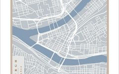 Pittsburgh Map Wall Art