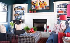 Playful Touches for Colonial Living Room Decor