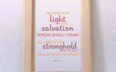Bible Verses Framed Art